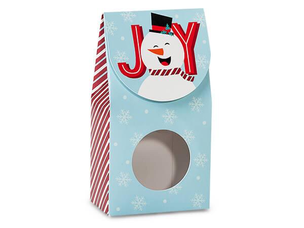 """Joyful Snowman Gourmet Window Box, Small 3.5x1.75x6.5"""", 6 Pack"""