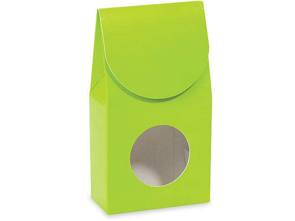 "Lime Green Gourmet Window Boxes, Small 3.5x1.75x6.5"", 6 Pack"