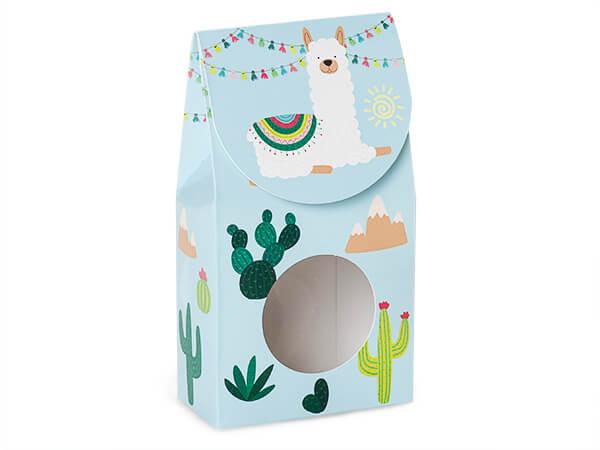 "*Party Llama Gourmet Window Box, Small 3.5x1.75x6.5"", 6 Pack"
