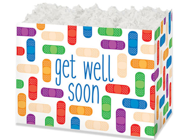 "Get Well Soon Basket Boxes, Large 10.25x6x7.5"", 6 Pack"