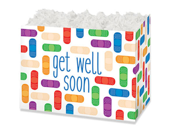 Small Get Well Soon Basket Boxes 6-3/4x4x5""
