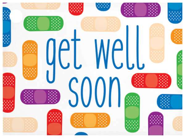 """Get Well Soon Theme Gift Card, 3.75x2.75"""", 6 Pack"""