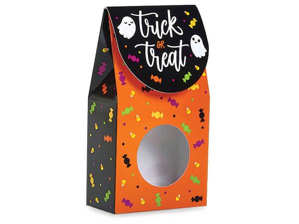 "Trick or Treat Gourmet Window Box, Small 3.5x1.75x6.5"", 6 Pack"