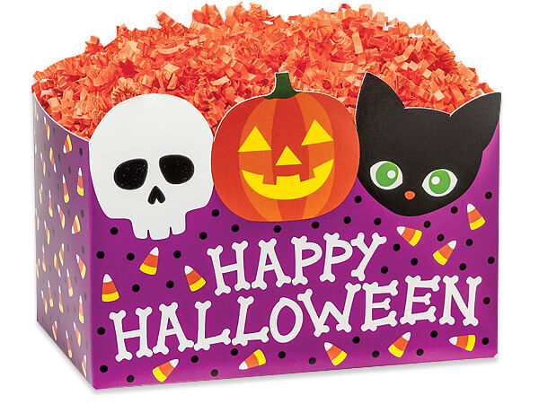 *Large Happy Halloween Basket Boxes 10-1/4 x 6 x 7-1/2""