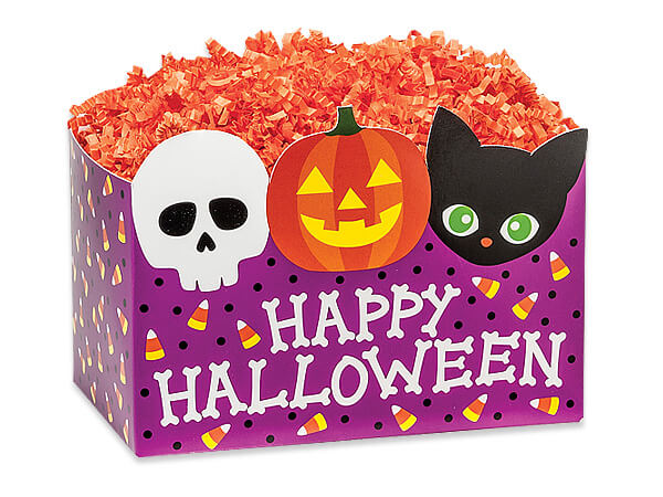 Small Happy Halloween Basket Boxes 6-3/4 x 4 x 5""