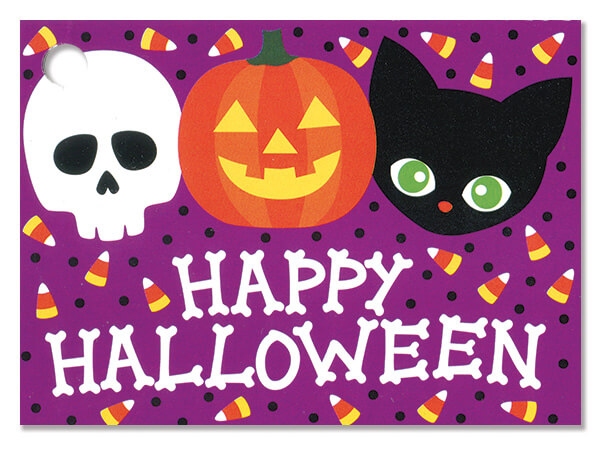 Happy Halloween Theme Gift Cards 3-3/4 x 2-3/4""