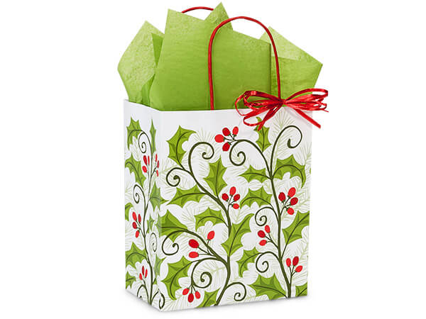 Cub Holly Berry Greenery 250 Paper Bags 8x4-3/4x10-1/4""