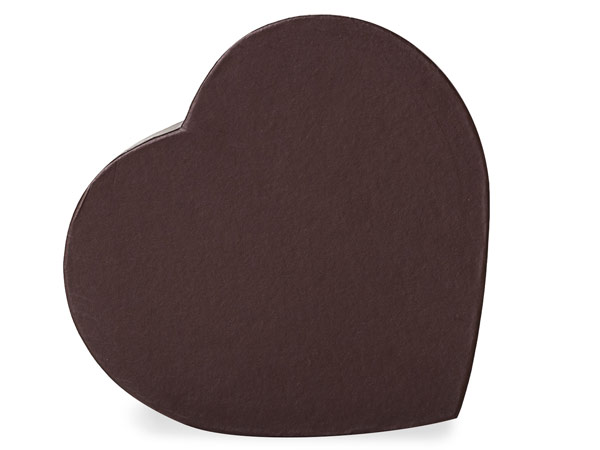 "Chocolate Heart Boxes, Small 6.75x6x1.25"", 3 Pack"
