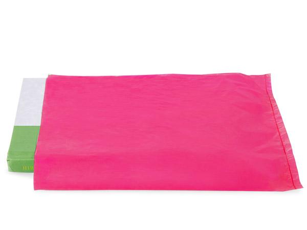 "Cerise Hi-D Bags 8.5x11"" Recycled Plastic No Handles .60 mil"