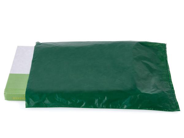 "Dark Green Hi-D Bags 8.5x11"" Recycled Plastic No Handles .60 mil"