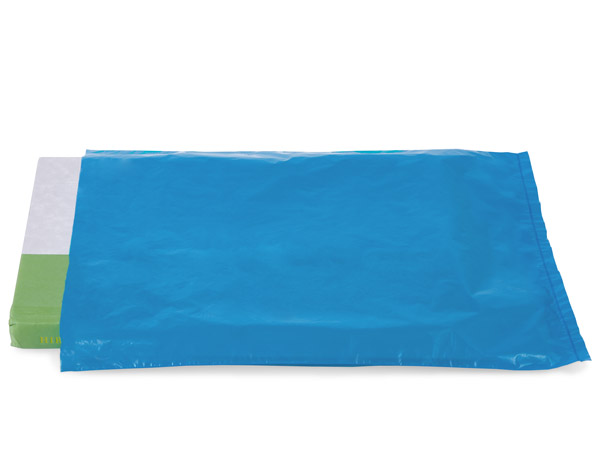 "Medium Blue Hi-D Bags 8.5x11"" Recycled Plastic No Handles .60 mil"