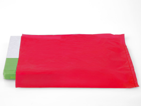 """Red Hi-D Bags 8.5x11"""" Recycled Plastic No Handles .60 mil"""