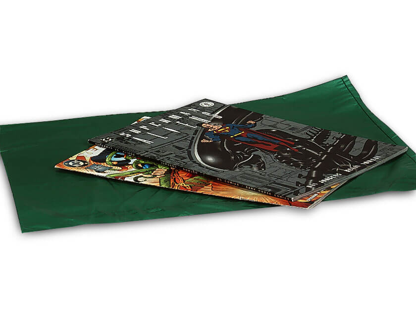 "Dark Green Hi-D Bags 12x15"" Recycled Plastic No Handles .60 mil"