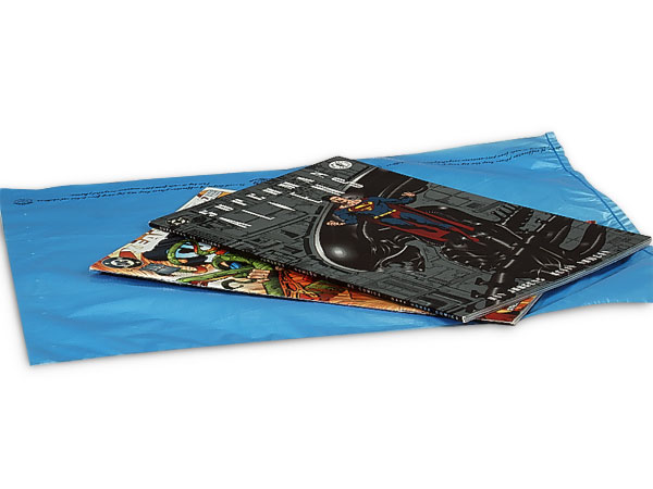Medium Blue Hi-D Bags12x15 Recycled Plastic No Handles .60 mil