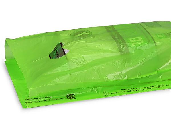 """Citrus Hi-D Bags 12x3x18"""" Recycled Plastic w/ Handles .70 mil"""
