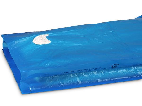 "Medium Blue Hi-D Bags 13x3x21"" Recycled Plastic w/ Handles .70 mil"