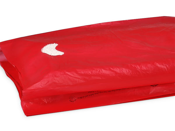 """Red Hi-D Bags 13x3x21"""" Recycled Plastic w/ Handles .70 mil"""