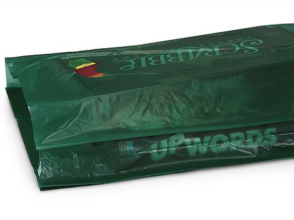"Dark Green Hi-D Bags 16x4x24"" Recycled Plastic w/ Handles .75 mil"