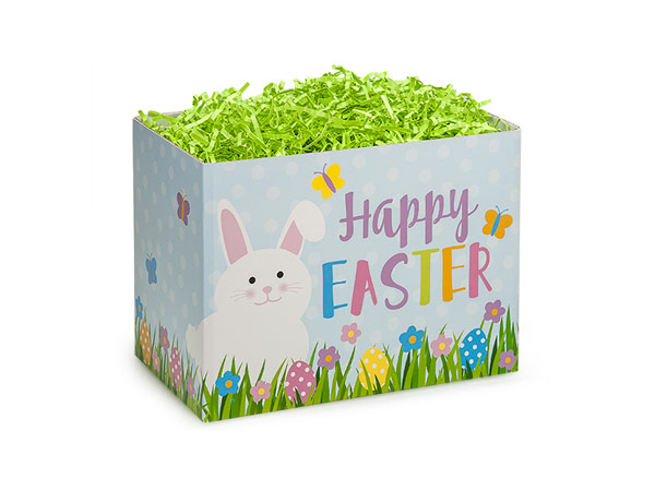 "Small Happy Easter Basket Box 6 3/4"" x 4"" x 5"""
