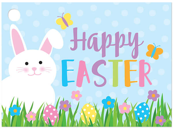 """Happy Easter Theme Gift Card, 3.75x2.75"""", 6 Pack"""