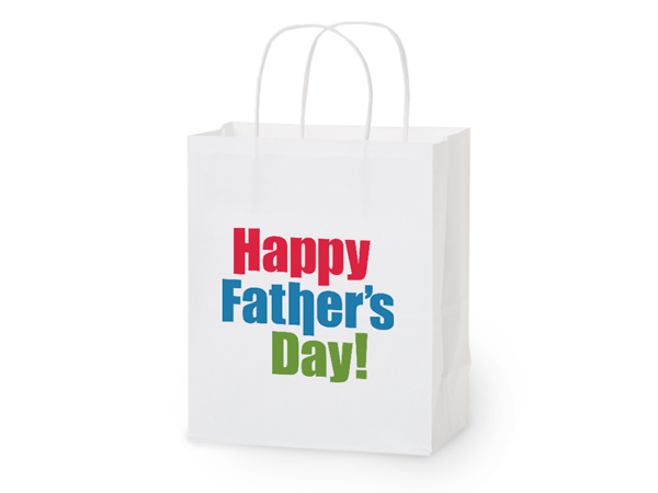 "Happy Father's Day Gift Bags Cub 8x4.75x10.25"", 5 pack"