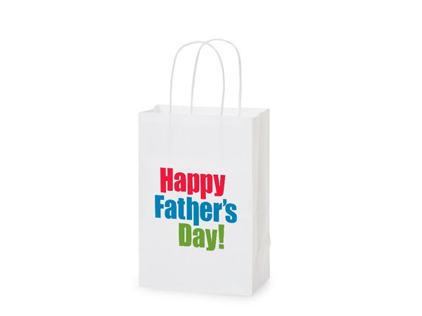 """Happy Father's Day Gift Bags Rose 5.5x3.25x8.25"""", 5 pack"""