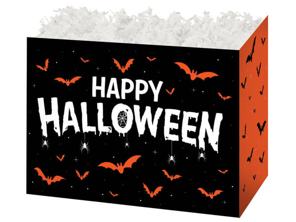 """Happy Halloween Basket Boxes, Large 10.25x6x7.5"""", 6 Pack"""
