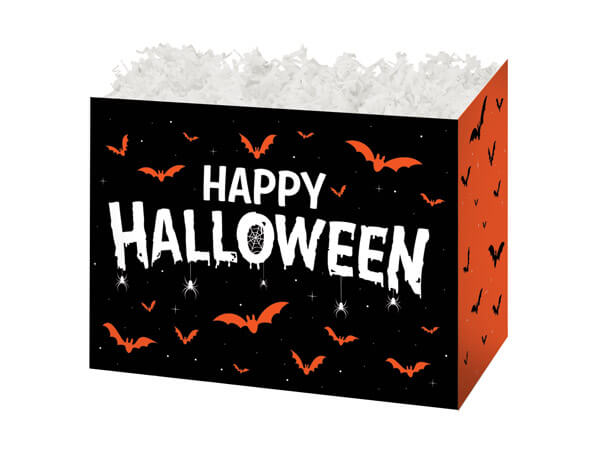 "Happy Halloween Basket Boxes, Small 6.75x4x5"", 6 Pack"