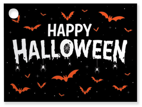 "Happy Halloween Theme Gift Cards, 3.75x2.75"", 6 Pack"