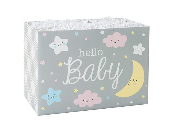 "Hello Baby Basket Boxes, Small 6.75x4x5"", 6 Pack"