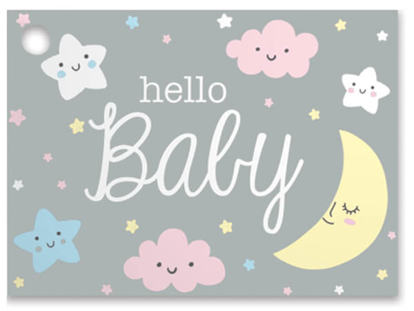 Hello Baby Theme Gift Cards 3.75x2.75, 6 Pack