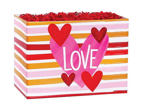 """Hello Love Basket Boxes, Small 6.75x4x5"""", 6 Pack"""