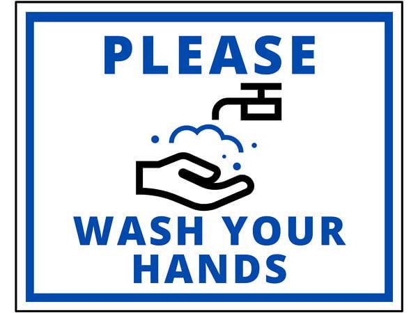 "Wash Your Hands, Hygiene Vinyl Label, 8x10"", 10 Pack"