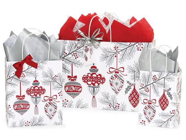 Heirloom Ornaments Paper Shopping Bag Assortment, 125 Pack