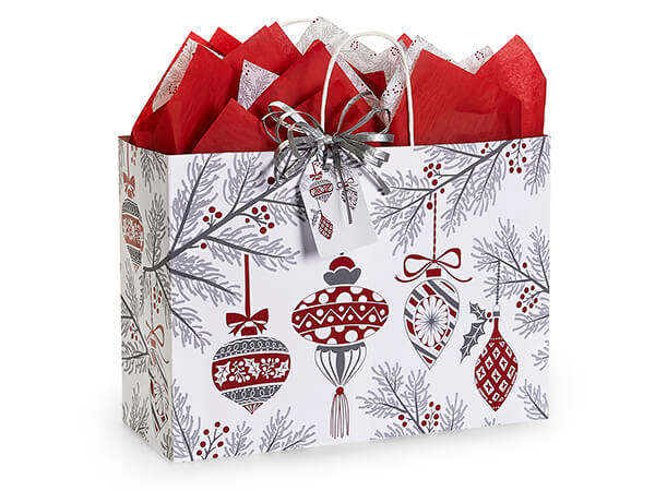 """Heirloom Ornaments Paper Shopping Bag, Vogue 16x6x12"""", 25 Pack"""