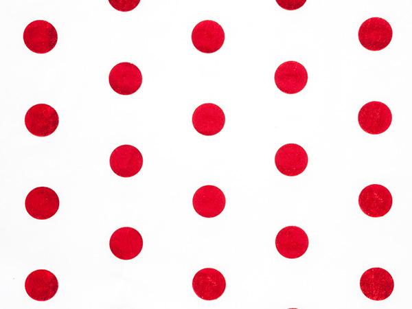 "Red Hot Stamp Dot Tissue Paper 200 ~ 20x30"" sheets"