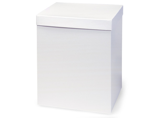"White Hi-wall 10x10x12"" Semi-Gloss Giftware Box Base"