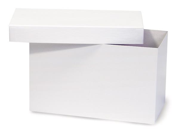"White Hi-wall 10x5x6"" Semi-Gloss Giftware Box Base"