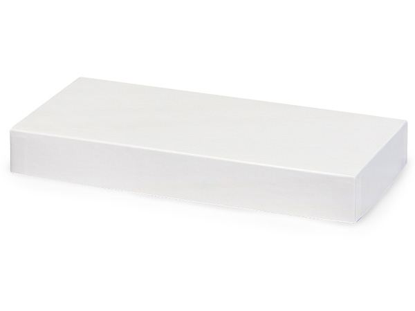 "White Gloss 10x5"" Box Lid 100% Recycled Giftware Rigid Lid"