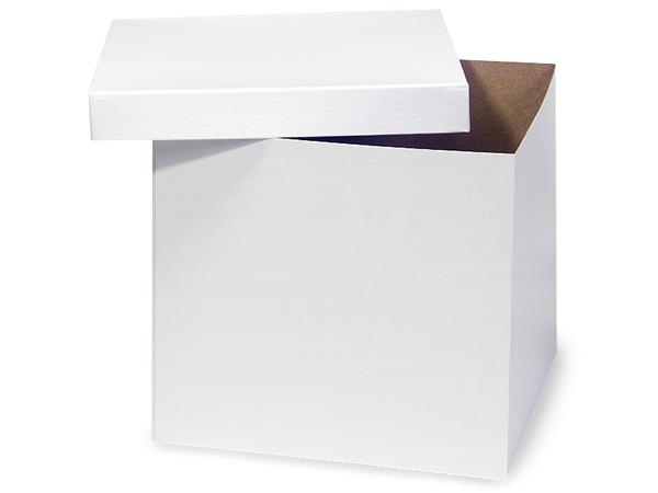 "White Hi-wall 10x10x9"" Semi-Gloss Giftware Box Base"