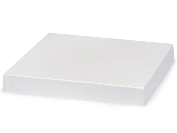 "White Gloss 10x10"" Box Lid 100% Recycled Giftware Rigid Lid"