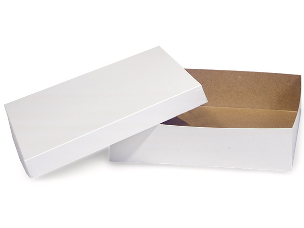 "White Hi-wall 12x12x3"" Semi-Gloss Giftware Box Base"