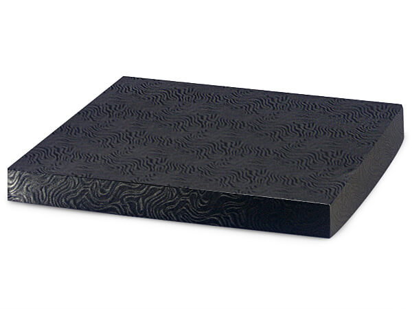 "Black Swirl 12x12"" Box Lid 100% Recycled Giftware Rigid Lid"