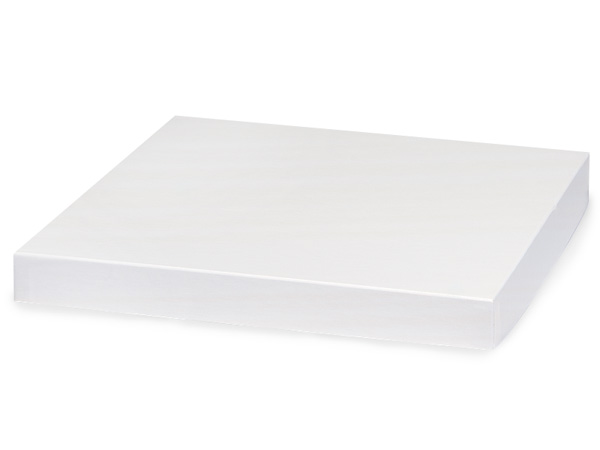 "White Gloss 12x12"" Box Lid 100% Recycled Giftware Rigid Lid"