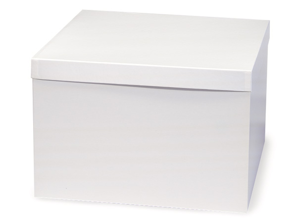"White Hi-wall 14x14x9"" Semi-Gloss Giftware Box Base"
