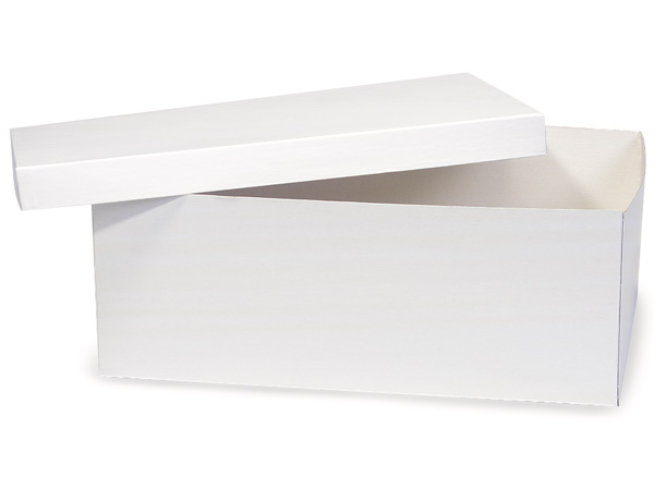 "White Hi-wall 16x10x6"" Semi-Gloss Giftware Box Base"