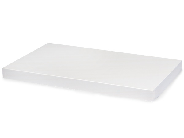 "White Gloss 19x12"" Box Lid 100% Recycled Giftware Rigid Lid"