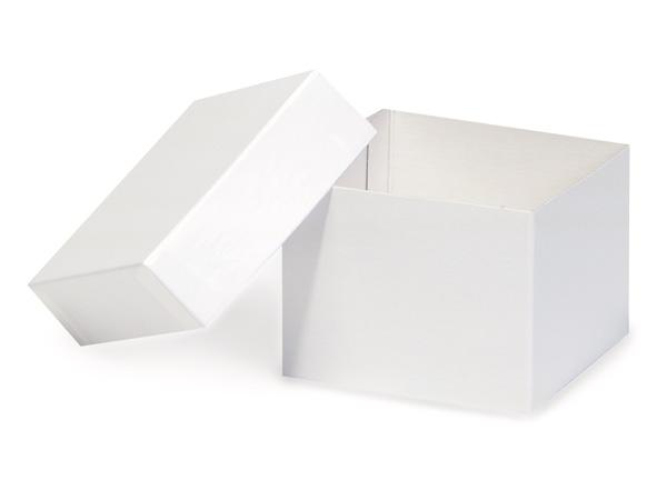 "White Hi-wall 4x4x3"" Semi-Gloss Giftware Box Base"