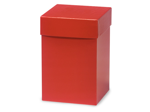 "Red Hi-wall 4x4x6"" 100% Recycled Giftware Box Base"