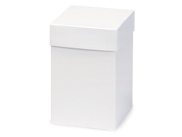 "White Hi-wall 4x4x6"" Semi-Gloss Giftware Box Base"